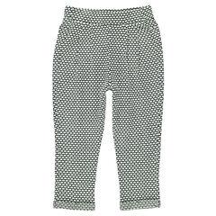 Pantalón corte loose-fit de felpa con fantasía con estampado