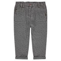 Pantalón corto de algodón estampado con forro de jersey