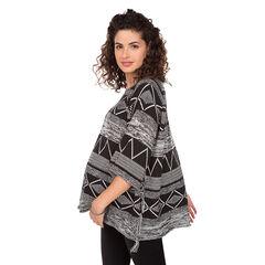 Jersey de premamá con forma de poncho y dibujo étnico