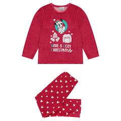 ¡Pijama de terciopelo con estampado de Mickey con espíritu navideño!