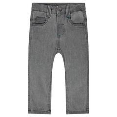 Pantalón de muletón con efecto vaquero