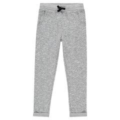 Pantalón corte loose-fit de felpa