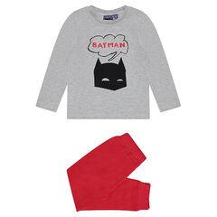 Pijama bicolor de punto Batman