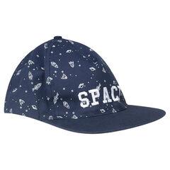 Gorra de twill con estampados tipo espacial