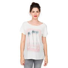 Camiseta premamá de manga corta con estampado de palmeras
