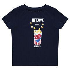Júnior - Camiseta de manga corta de punto y estampado de fantasía