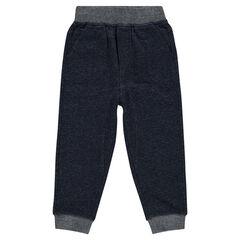 Pantalón de felpa liso
