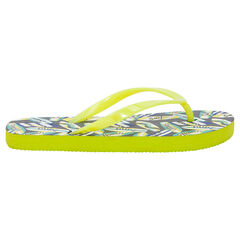 Chanclas con estampado de surf all-over