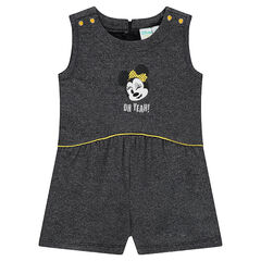 Mono-vestido evasé de felpa con bordado Disney Minnie