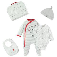 Coffret de naissance avec body- bonnet - bavoir et dors-bien