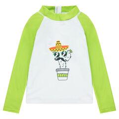 Camiseta de manga larga antirrayos UV con estampado de cactus