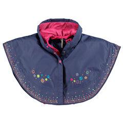 Capa con capucha forrada de tela sherpa chaleco sin mangas