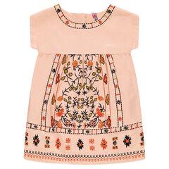 Vestido bordado de algodón