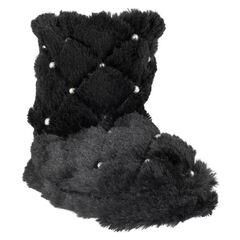 Zapatillas de forma botín de pelo sintético acolchado