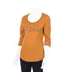 Camiseta para embarazada de mangas 3/4 con mensaje