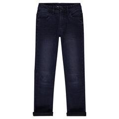 Junior - Jeans slim con efecto desgastado y arrugado