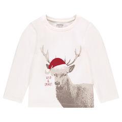 Camiseta de manga larga con estampado de alce
