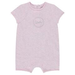 Mono corto para recién nacido con inscripción de fantasía