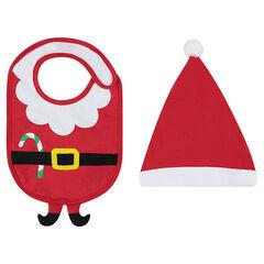 Conjunto de babero y gorro de navidad