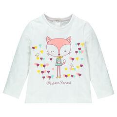 Camiseta manga larga de tejido de punto estampado fantasía