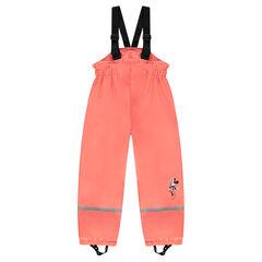 Pantalón impermeable de tirantes Disney Minnie con forro polar