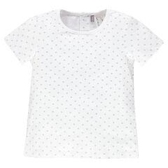 Camiseta manga corta con estrellas con estampado all-over