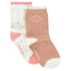 Juego de 2 pares de calcetines de fantasía