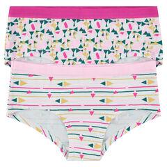Júnior - Pack de 2 culottes cortos con estampado de fantasía