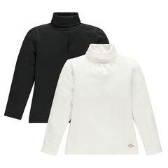 Lote de 2 camiseta interior cuello vuelto de color liso