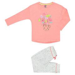 Pijama largo con estampado de fantasía