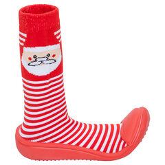 Calcetines gordos de punto con dibujo de Papá Noel
