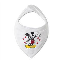 Lote de 2 babero de tejido de punto Disney con estampado Mickey