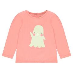 Camiseta especial Halloween con estampado de fantasma fosforescente