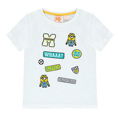 Camiseta de manga corta con parches de Minions