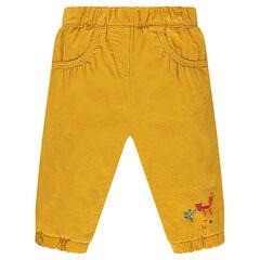 Pantalón de terciopelo de pana con forro de punto