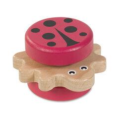 De madera con mariquita rosa