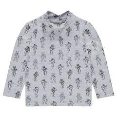 Camiseta de punto interior con estampado de astronautas all over
