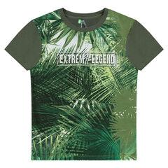 Júnior - Camiseta de manga corta con estampado vegetal