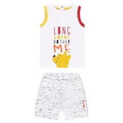 Conjunto con camiseta con estampado Winnie the Pooh ©Disney y bermudas asargadas