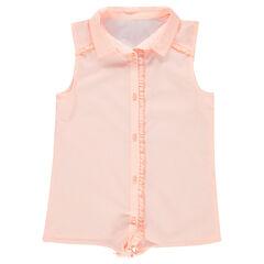 Júnior - Camisa de manga corta que se anuda con cuadros de vichy