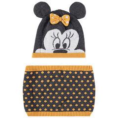Ensemble bonnet et snood doublés sherpa Minnie Disney