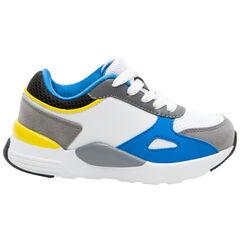 Zapatillas de estilo deportivo con aplicaciones que contrastan y suela de cuña