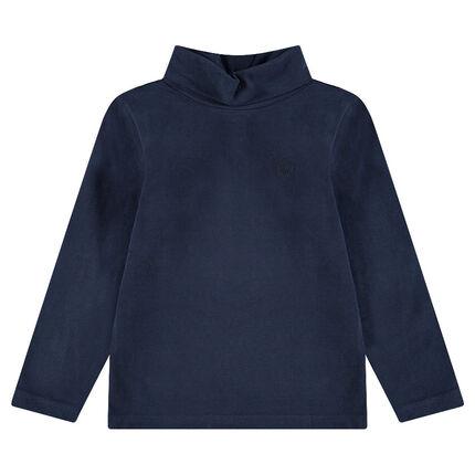 Júnior - Camiseta interior de punto con cuello vuelto y logo bordado