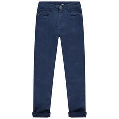 Júnior - Pantalón de tela slim con bolsillos