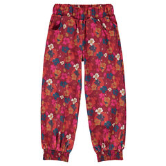 Pantalón fluido con estampado de flores