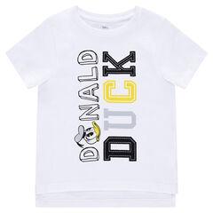 Camiseta de manga corta de punto de Disney con texto y Donald estampado