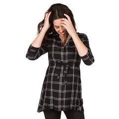 Camisa premamá de manga larga con amplios cuadros