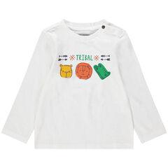 Camiseta de manga larga con estampado de animales de la selva