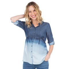 Camisa de manga larga de Tencel de efecto tie-dye
