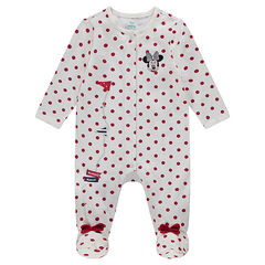 Pijama de punto con lunares all over y bordados Disney de Minnie